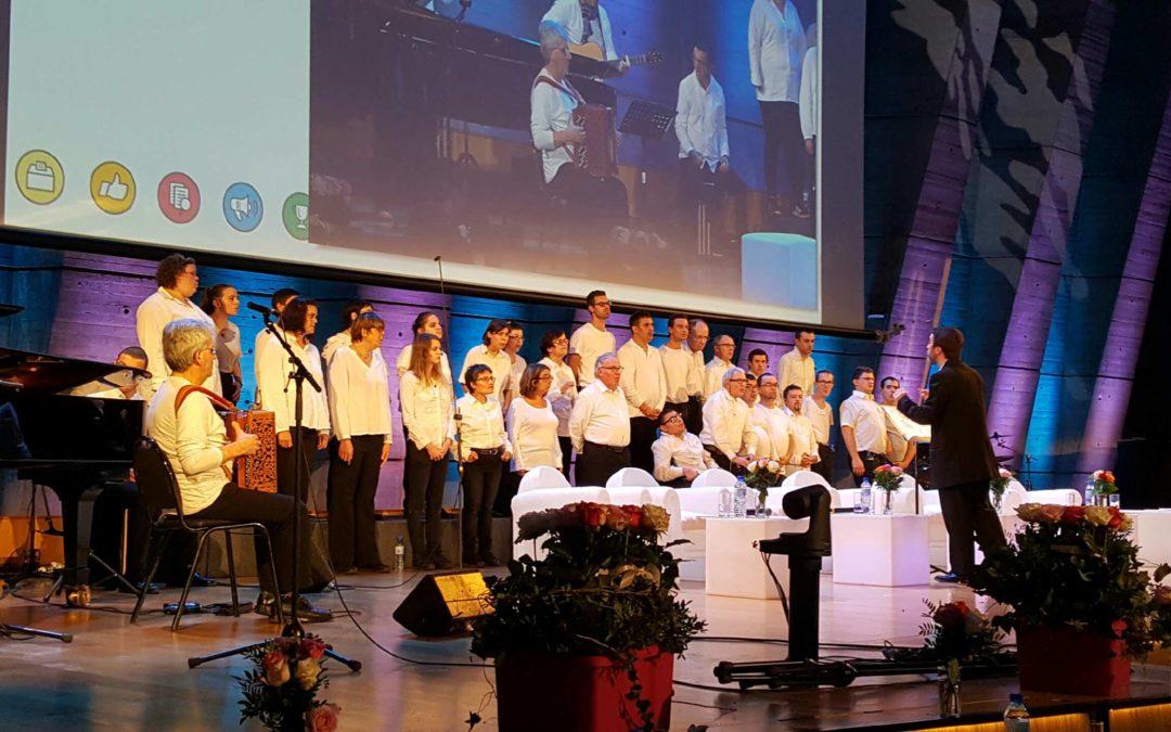 Les chanteurs Handivoix à l'UNESCO